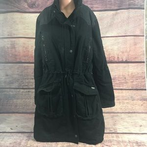Levi's Coat Women's Large Black parka